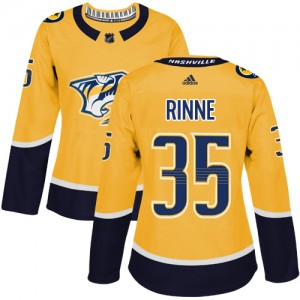 Women's Nashville Predators Pekka Rinne Adidas Authentic Home Jersey - Gold