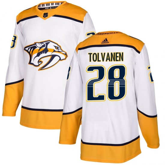 Men's Nashville Predators Eeli Tolvanen Adidas Authentic Away Jersey - White